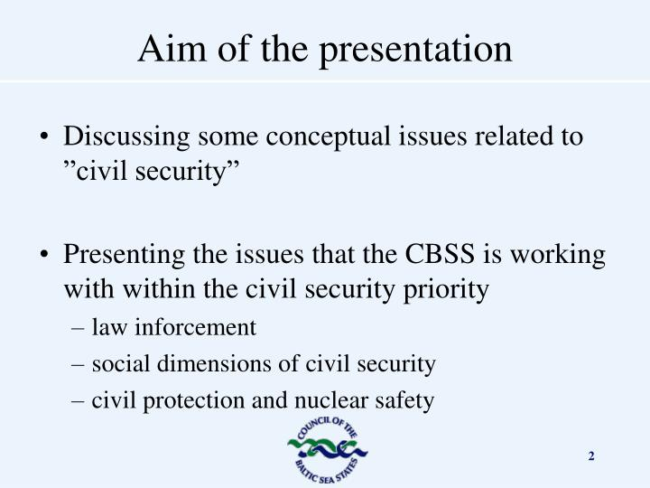 """Discussing some conceptual issues related to """"civil security"""""""