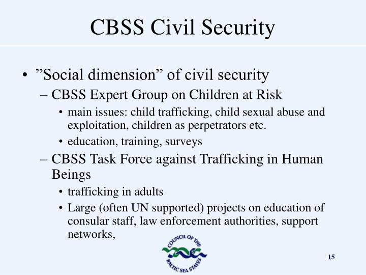 """Social dimension"" of civil security"
