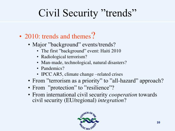 2010: trends and themes