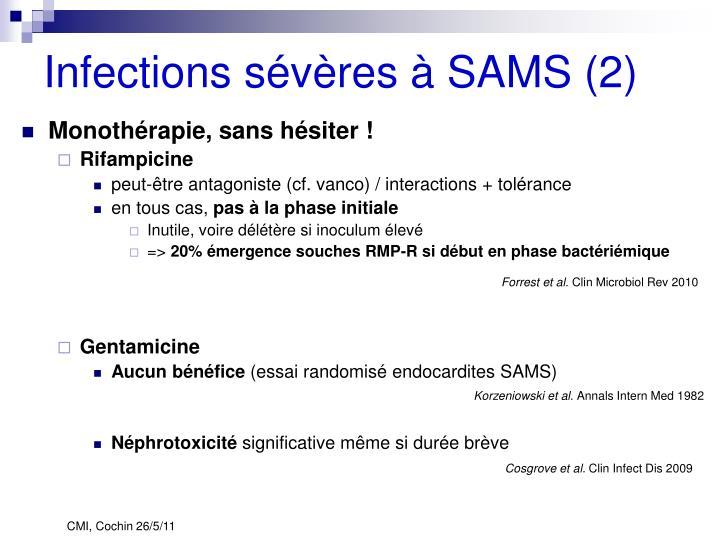 Infections sévères à SAMS (2)