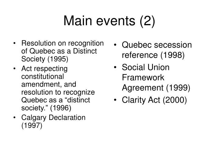Resolution on recognition of Quebec as a Distinct Society (1995)