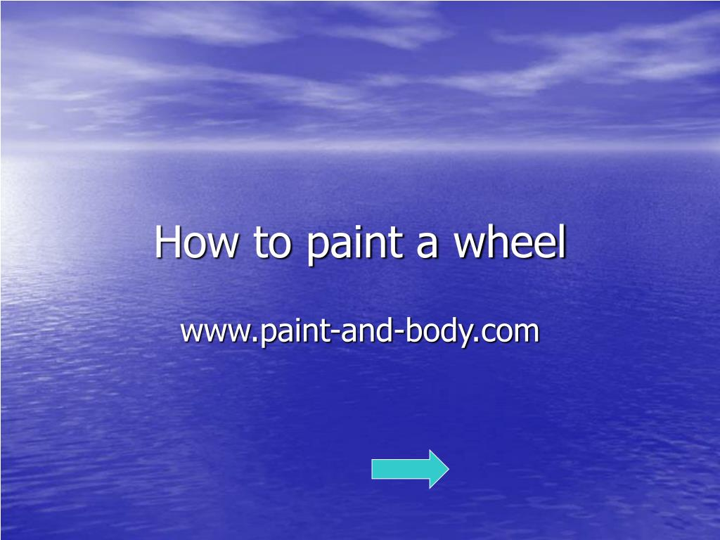 How to paint a wheel