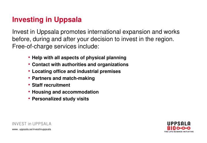 Investing in Uppsala