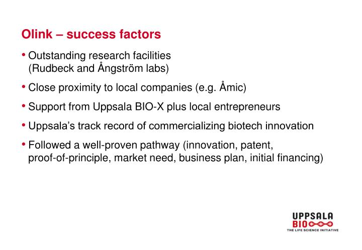 Olink – success factors