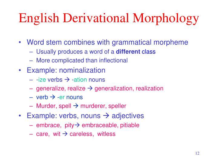 English Derivational Morphology