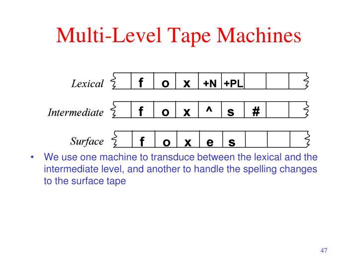 Multi-Level Tape Machines