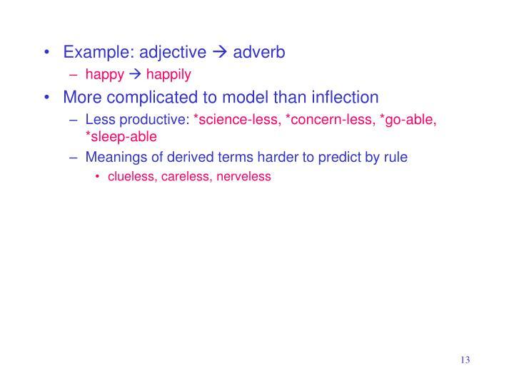 Example: adjective
