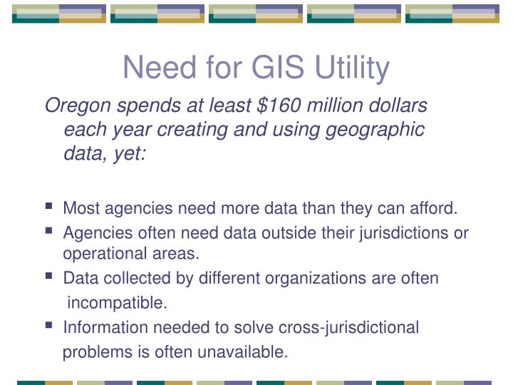 Need for GIS Utility