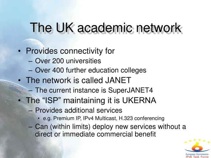 The UK academic network