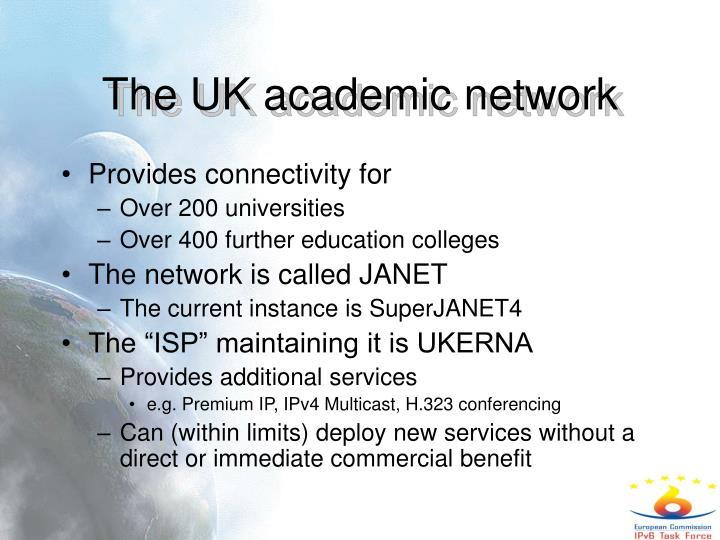 The UK academic network