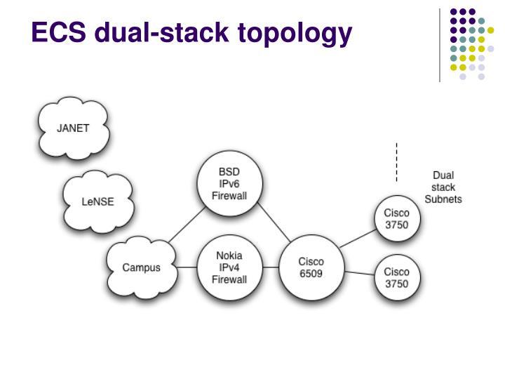 ECS dual-stack topology