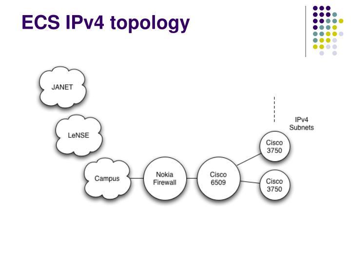 ECS IPv4 topology