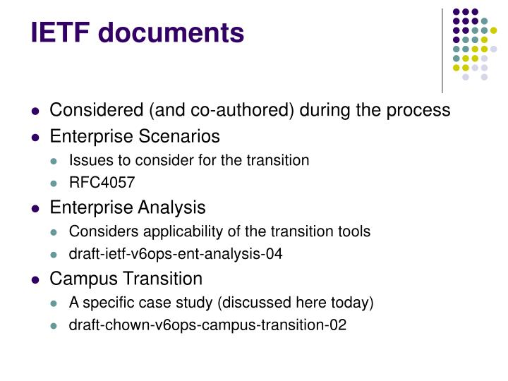 IETF documents