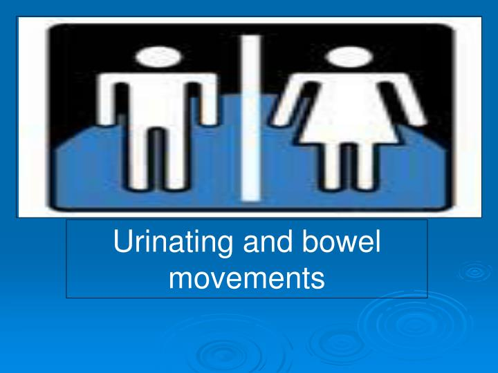 Urinating and bowel movements