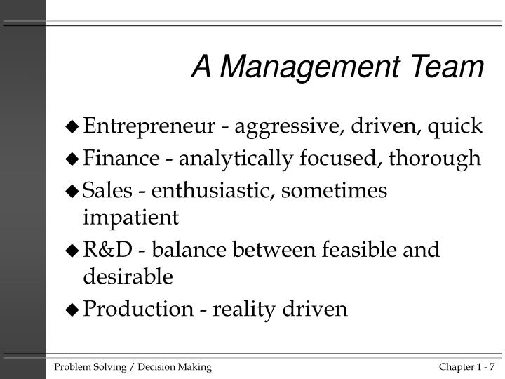 A Management Team