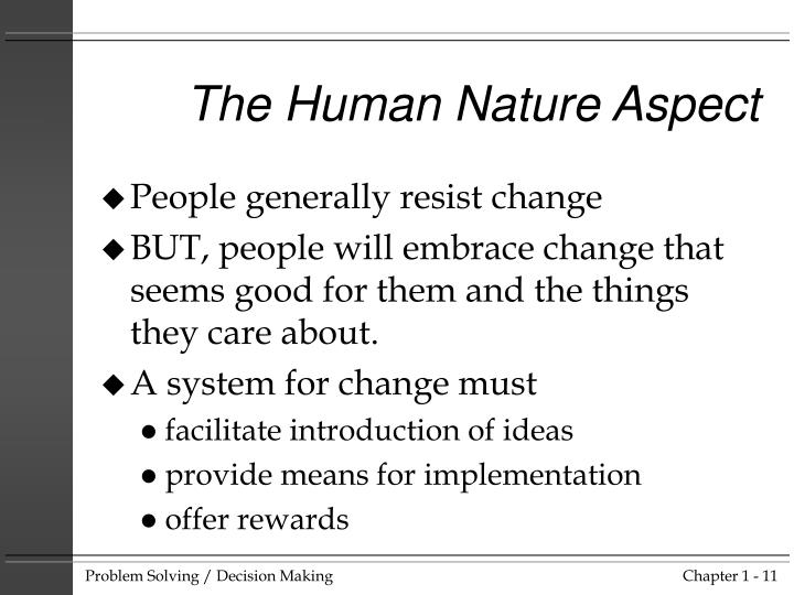 The Human Nature Aspect
