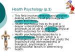 health psychology p 3