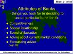 attributes of banks things you look for in deciding to use a particular bank for 4x