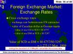 foreign exchange market exchange rates1