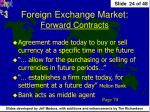 foreign exchange market forward contracts
