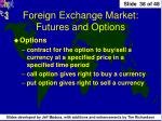 foreign exchange market futures and options1