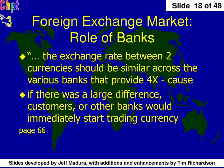 Foreign Exchange Market: Role of Banks