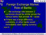 foreign exchange market role of banks
