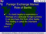 foreign exchange market role of banks1