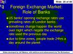 foreign exchange market role of banks2