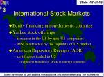 international stock markets