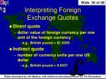 interpreting foreign exchange quotes