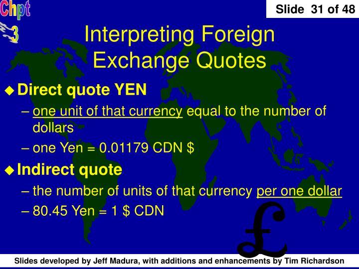 Interpreting Foreign