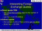 interpreting foreign exchange quotes1