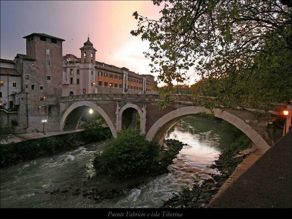 Puente Fabricio e isla Tiberina