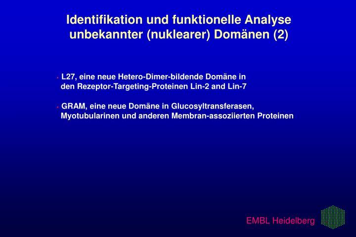Identifikation und funktionelle Analyse   unbekannter (nuklearer) Domänen (2)