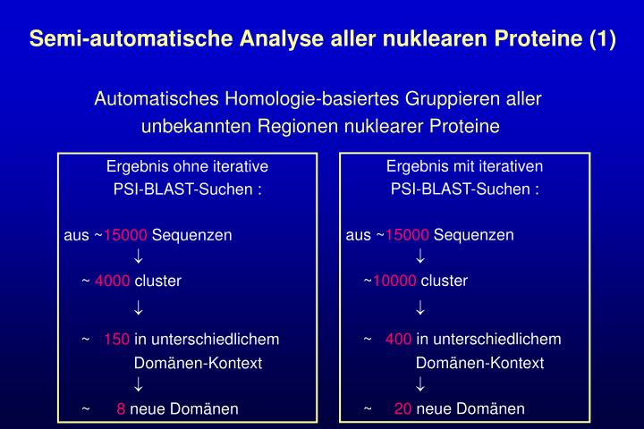 Semi-automatische Analyse aller nuklearen Proteine (1)