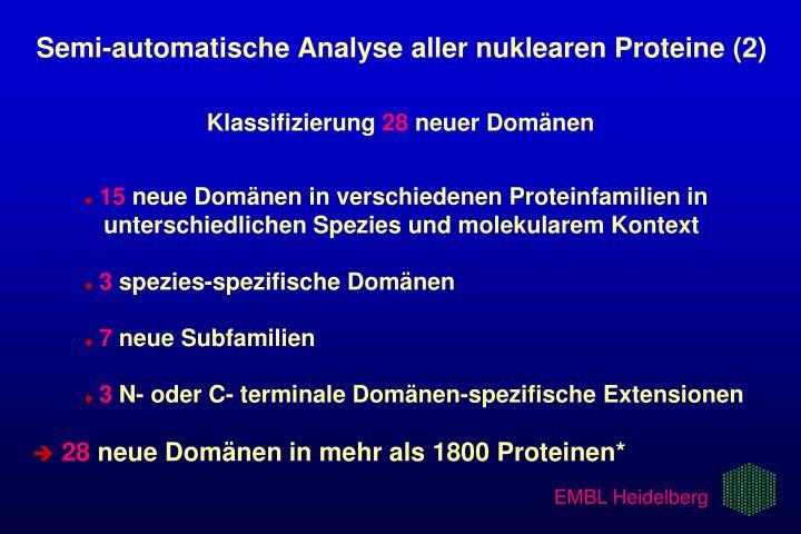 Semi-automatische Analyse aller nuklearen Proteine (2)