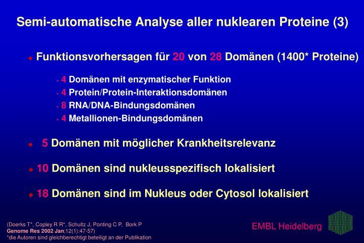 Semi-automatische Analyse aller nuklearen Proteine (3)