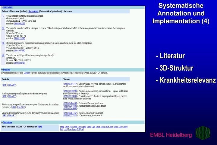 Systematische Annotation und Implementation (4)