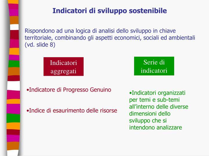 Indicatori di sviluppo sostenibile
