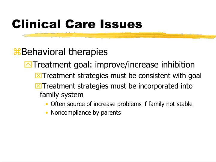 Clinical Care Issues