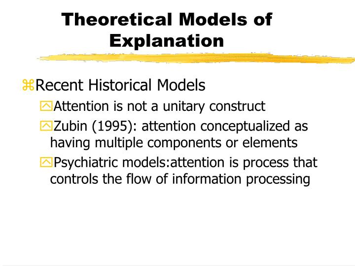 Theoretical models of explanation1