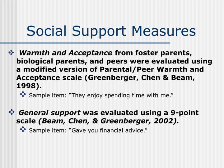Social Support Measures