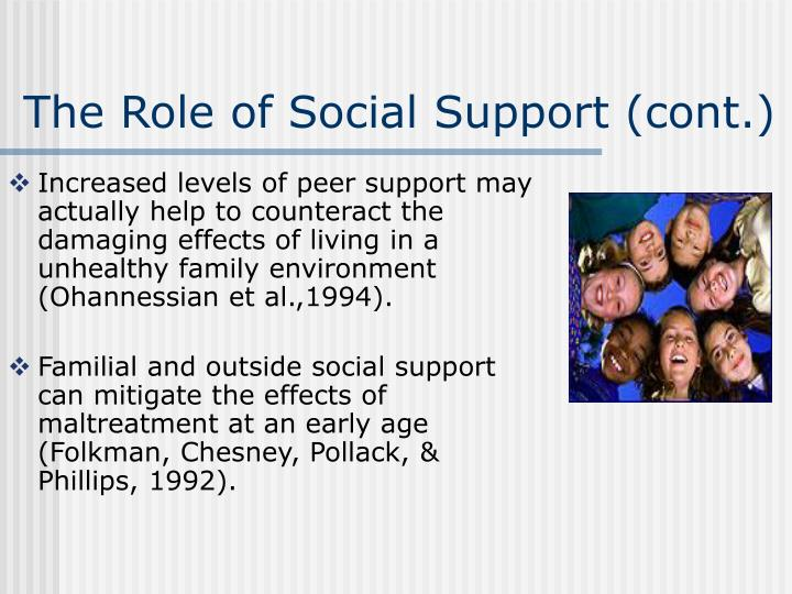 The Role of Social Support (cont.)