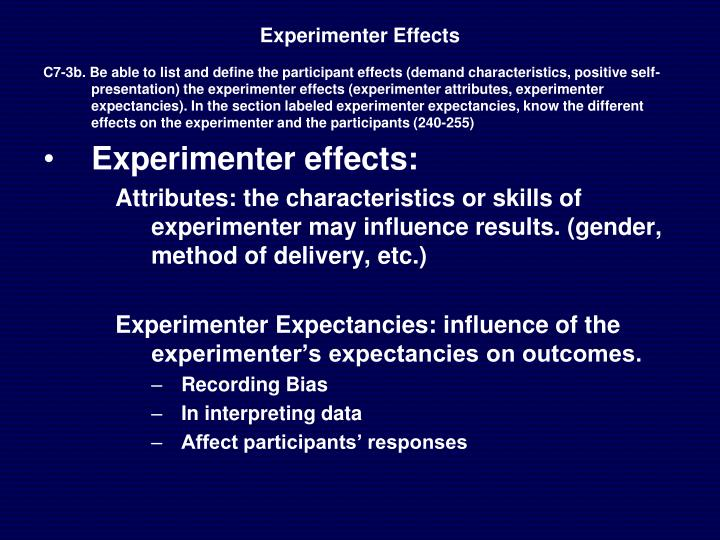 Experimenter Effects