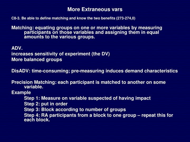 More Extraneous vars