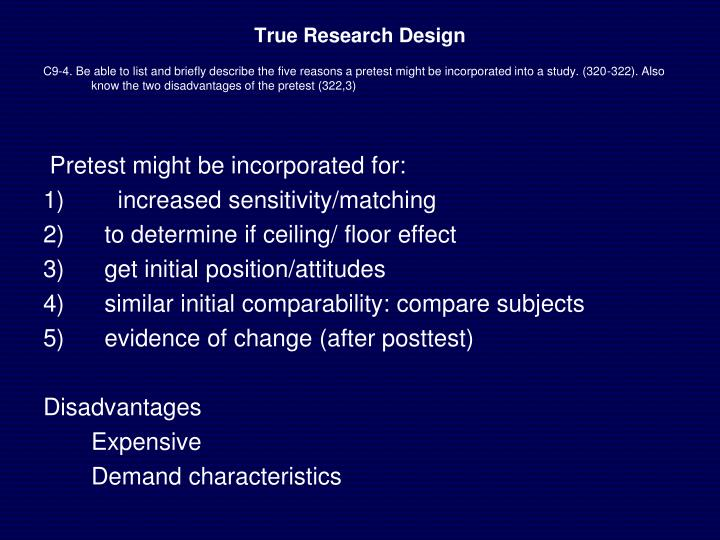 True Research Design