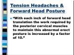 tension headaches forward head posture
