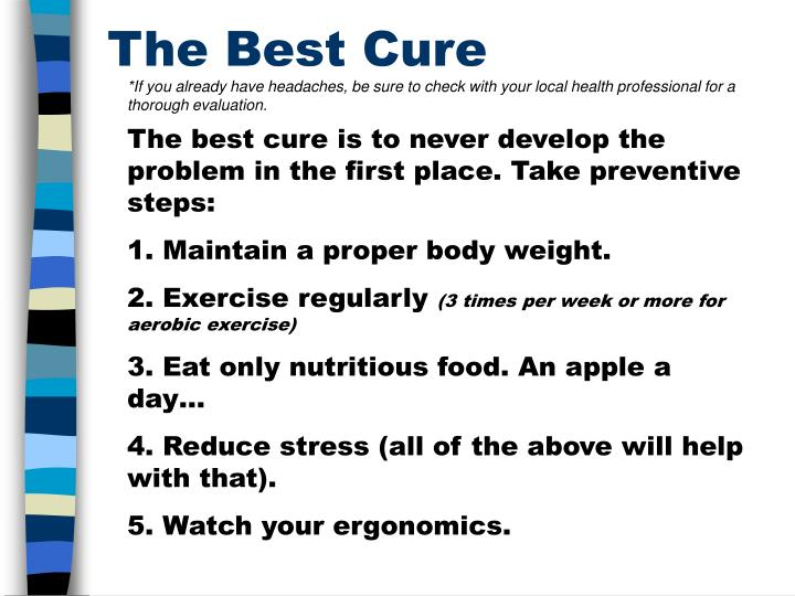 The Best Cure