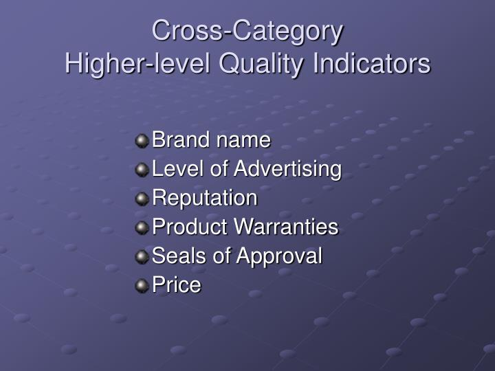 Cross-Category
